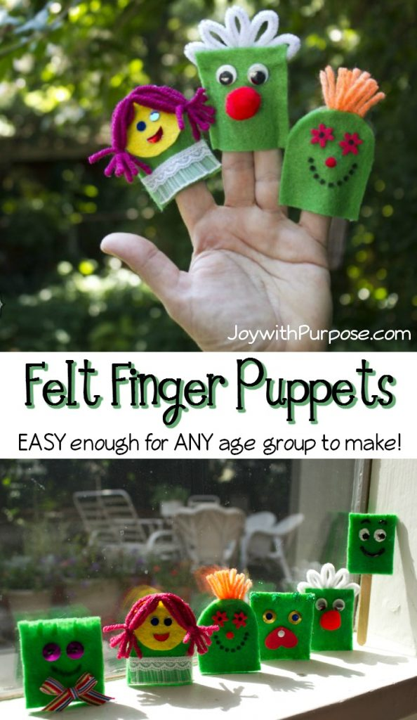 easy finger puppets you can make from felt with children