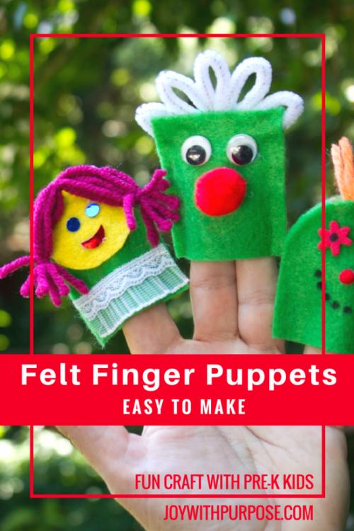 Fun Felt Finger Puppets by JoywithPurpose