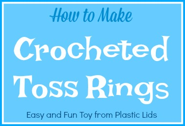 How to make easy crochted toss rings DIY tutorial upcycle plastic lids