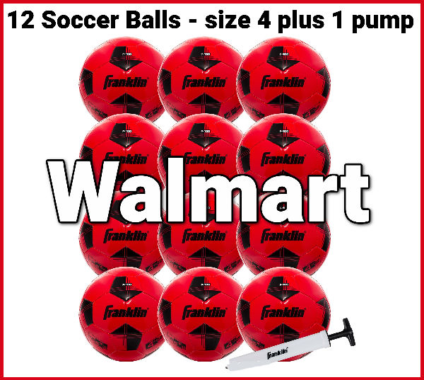 Check out Walmart for good prices on Soccer Balls