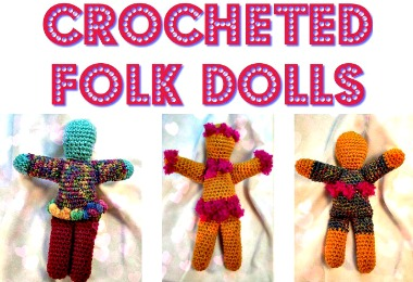 colorful Crocheted Dolls DIY Free printable tutorial