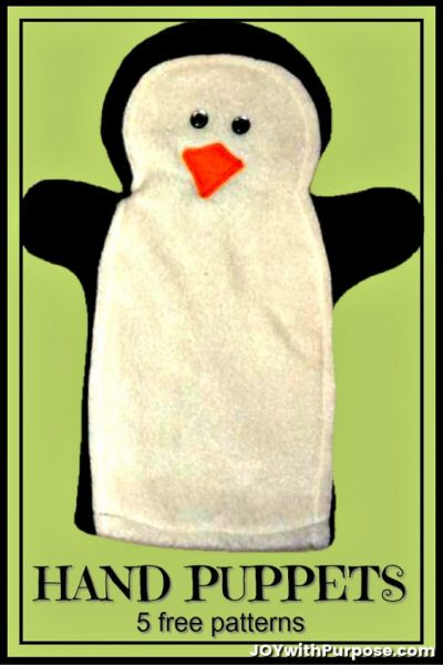 fleece handpuppet patterns