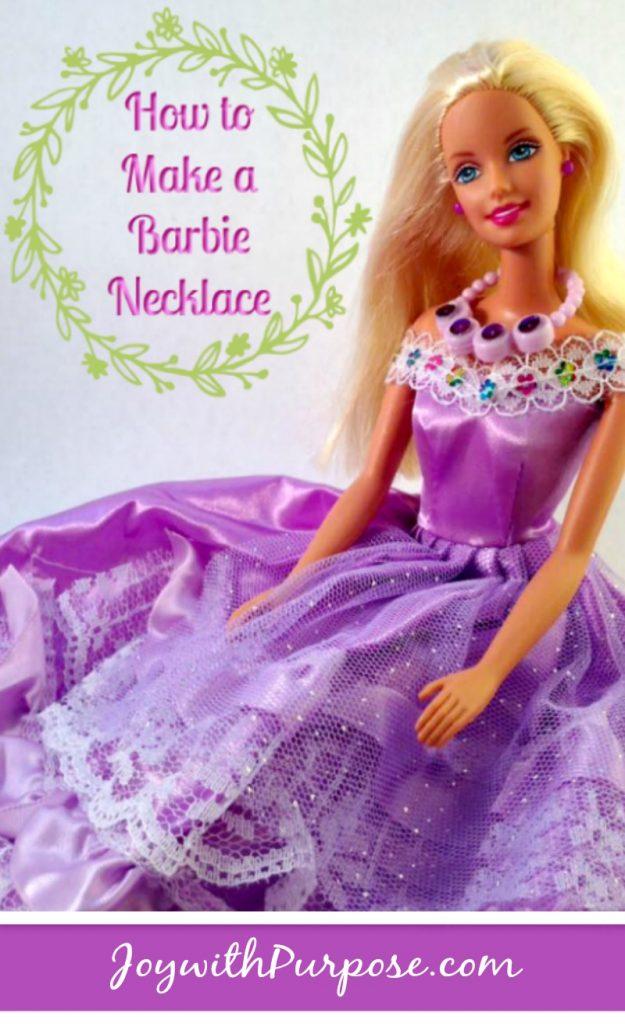 DIY How to Make a Barbie Necklace
