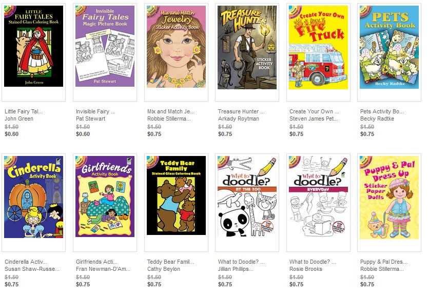 Dover Publications Little Books are on sale today plus a coupon code for 20% off