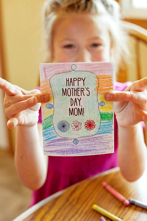 Mother's Day printable card and questionnaire