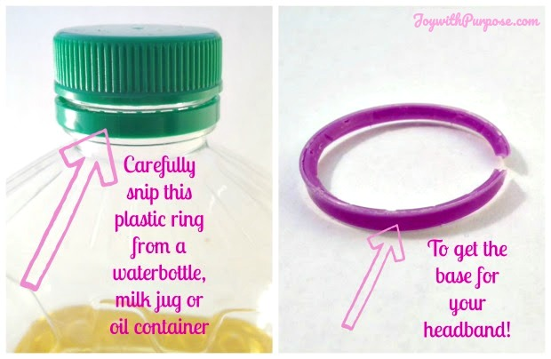 Snip the plastic ring to upcycle to make a Barbie Headband