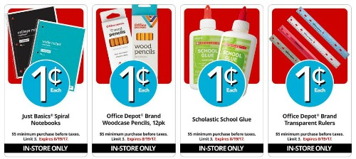 penny deals Office Depot August 13 Best Back to School Bargains