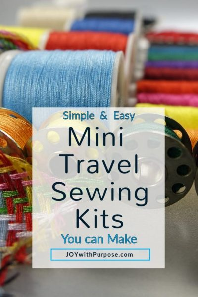 thread and notions for mini sewing kits