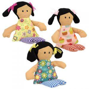 Dollar Tree cloth dolls used for my doll sleeping bags.
