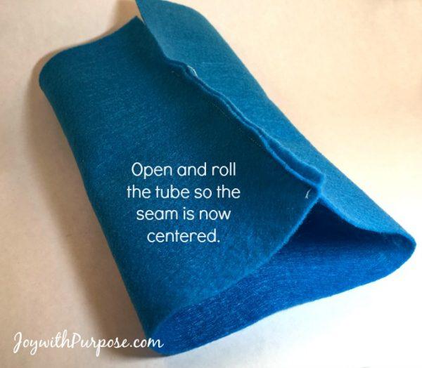 Doll Sleeping Bag center the seam