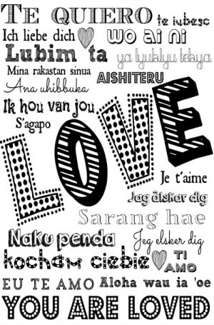 Free Printable Love Cards Words of Love in 20 Languages