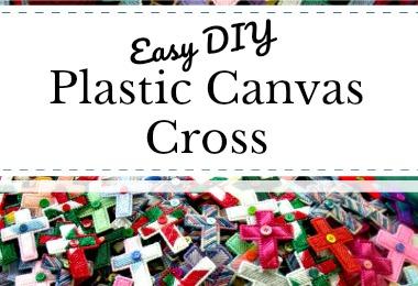 easy diy plastic canvas cross craft