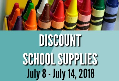 Here are the discount school supplies for this week!