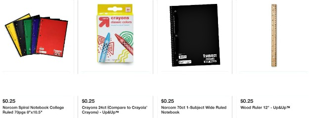 Target discount school supplies for July 8