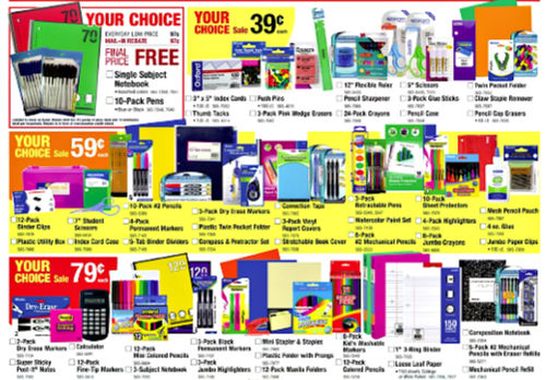 Menards School Supply Deals