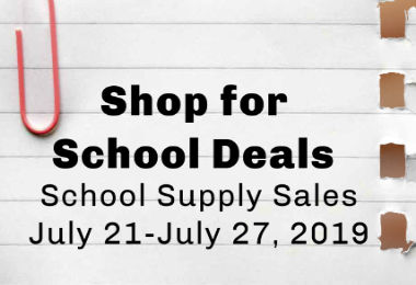 Shop for School Supplies now July 2019